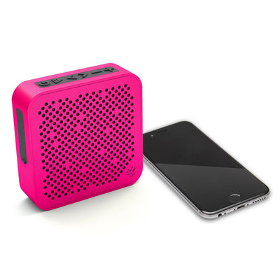 Side View of Pink Crasher Mini Bluetooth Speaker with Phone