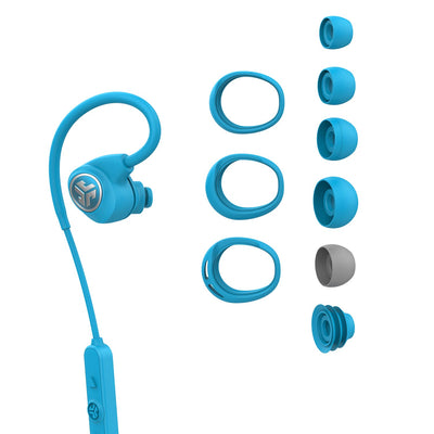 Blue Epic Sport Earbud with All Cush Fin and Tip Sizes
