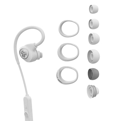 White Epic Sport Earbud with All Cush Fin and Tip Sizes