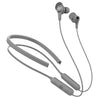 Gray Epic Executive Wireless Earbuds Showing Optional Neckband, and Cush Fins