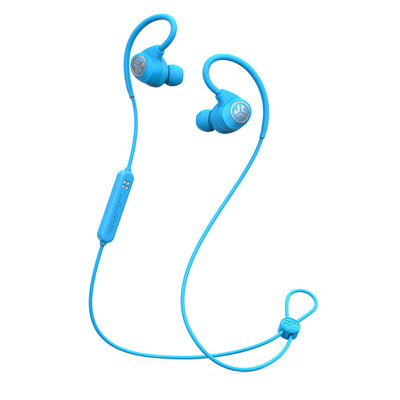 Blue Epic Sport Wireless Earbuds with Microphone and Cable