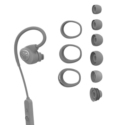Gray Epic Sport Earbud with All Cush Fin and Tip Sizes