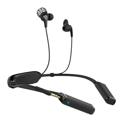 Side View of Gravity Bluetooth Neckband Adaptor with Earbuds and Cush Fins