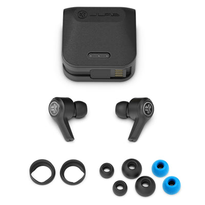 JBuds Air Executive True Wireless Earbuds with case and eartips