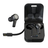 JBuds Air Executive True Wireless Earbuds with charging case and cable