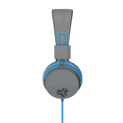 Side profile of JBuddies Studio Over Ear Folding Headphones in Blue