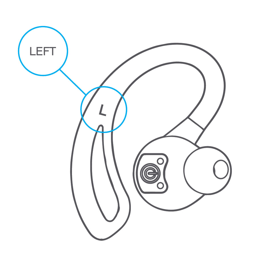 Replacement Left Earbud for Epic Air True Wireless Earbuds