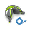 Neon Bluetooth Wireless On-Ear Headphones folded in green