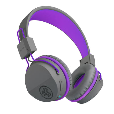 Neon Bluetooth Wireless On-Ear Headphones in purple