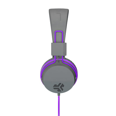 Side Profile of JBuddies Studio Over Ear Folding Headphones in Purple