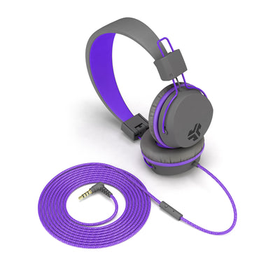 JBuddies Studio Over Ear Folding Headphones in Purple