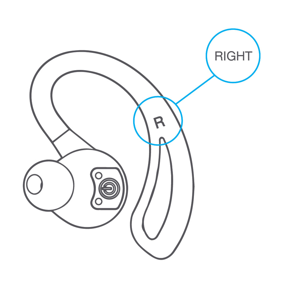 Replacement Right Earbud for Epic Air True Wireless Earbuds