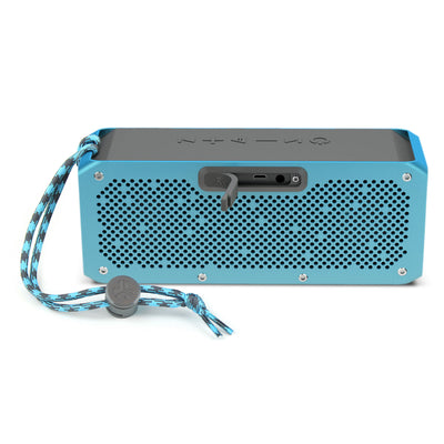 Front View of Blue Crasher XL Bluetooth Speaker with Paracord