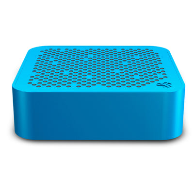 Side View of Blue Crasher Mini Bluetooth Speaker