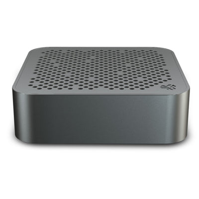 Side View of Gunmetal Crasher Mini Bluetooth Speaker
