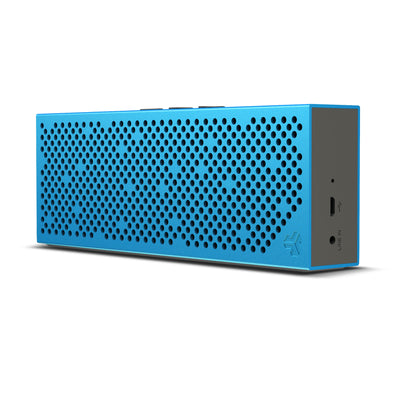 Front and Side View of Blue Crasher Slim Bluetooth Speaker
