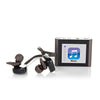 Close-Up of Gunmetal Eclipse Fit Clip Bluetooth Media Player with JLab Go Earbud Headset