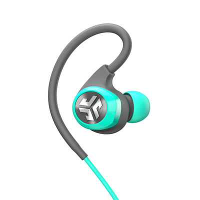 Close-up of Teal Epic2 Bluetooth Wireless Earbud