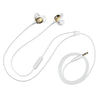 Top Down View of Glitter Gold and Cloud Epic Premium Earbuds with Cable