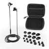 Jet Black and Graphite Epic Earbuds with Carrying Case and All Tip Sizes and Cush Fins