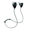 Back and Side View of Gunmetal JLab Go Earbuds with Cush Fins