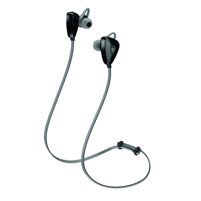 Side View of Gunmetal JLab Go Earbuds with Cush Fins