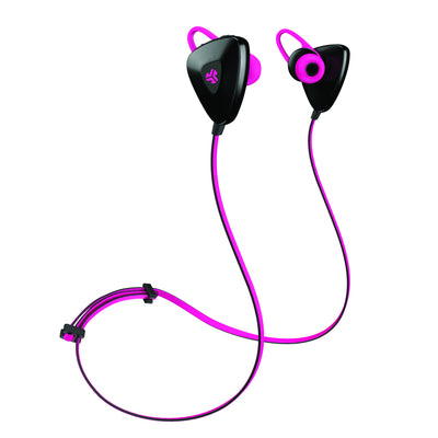 Back and Side View of Pink JLab Go Earbuds with Cush Fins