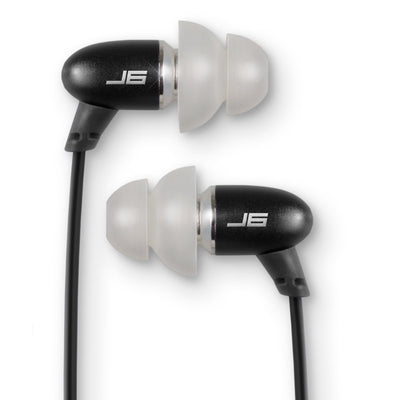 JBuds J6M Petite Metal Earbuds with Mic close up