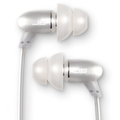 JBuds J6M Petite Metal Earbuds with Mic silver