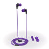 JBuds2 Signature Earbuds in purple with accessories