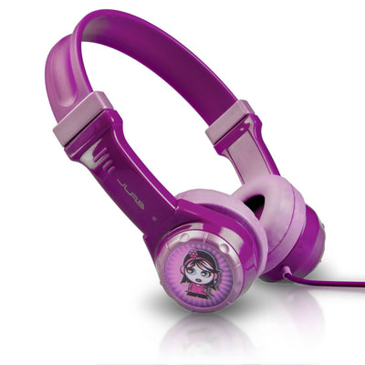 Side View of Purple JBuddies Kids Headphones