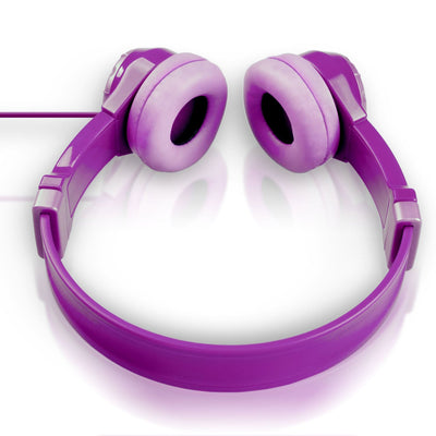 Top Down View of Purple JBuddies Kids Headphones