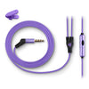 Metal Earbuds purple cord