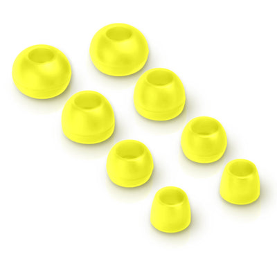 Metal Earbuds yellow eartips