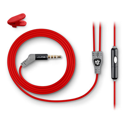 Metal Earbuds red cord