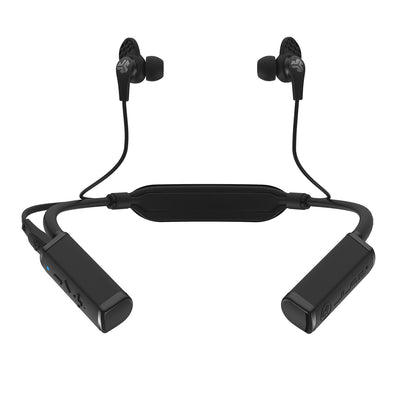 Front View of Gravity Bluetooth Neckband Adaptor with Earbuds and Cush Fins