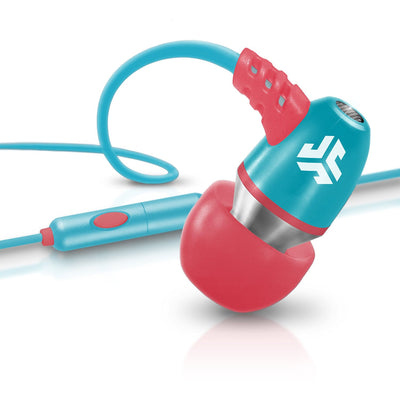 Neon Earbuds in pink and blue