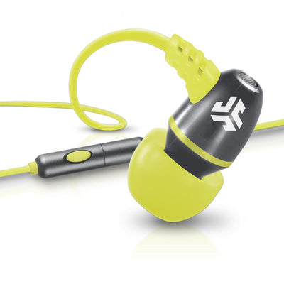 Neon Earbuds in yellow and silver