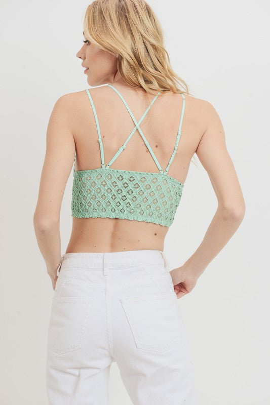 Lace Bralette Bright Mint