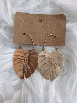 Gold Palm Leaf Earring