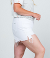 Curvy Girl White Cut Off Shorts