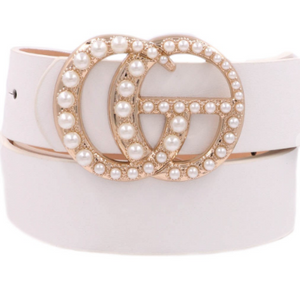 Pearl Double G Belt White