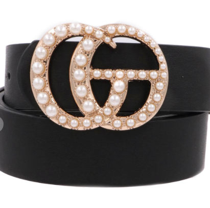 Pearl Double G Belt Black