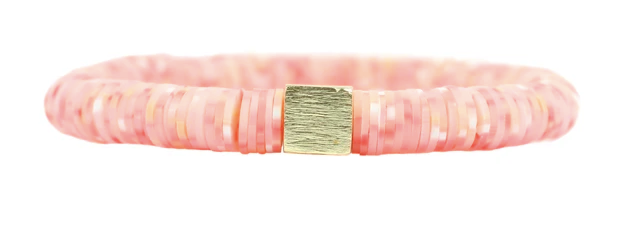 Speck Coral Disc Stretch Bracelet