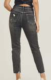 Risen Distressed Black Jeans