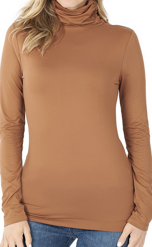 Buttery Soft Mock Neck Fitted Top