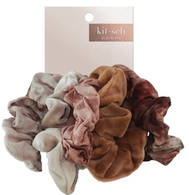Rust Tie Dye Scrunchie Set
