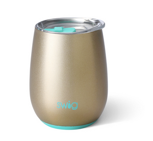 Swig Shimmer Gold Wine Cup 14 OZ