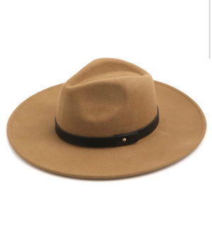 Snap Belt Wide Brim Hat