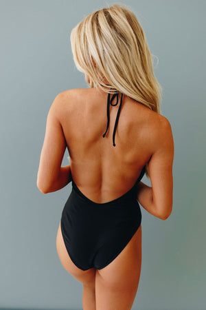 Wrap Backless One Piece